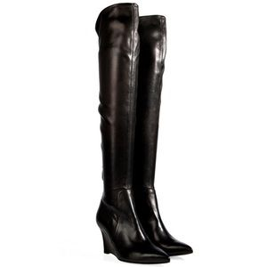 Sergio Rossi Black High Wedge Boots A14470